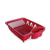 Escorredor de Plástico para Pia Vermelho 1 UN Plasútil