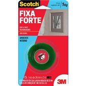 Fita Dupla Face Scotch Transparente 24mm x 2m 1 UN 3M