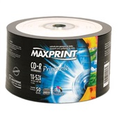 CD-R Gravável Printable Ink-Jet 700MB 80 Minutos 50 UN Maxprint