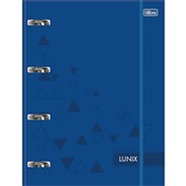 Caderno Argolado Cartonado com Elástico 80 FL Azul 1 UN Tilibra