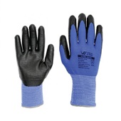 Luva Nitril Wave M Preto e Azul CA 38932 1 Par Volk