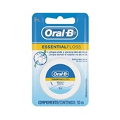 Fio Dental Essential Floss Encerado 50m 1 UN Oral-B