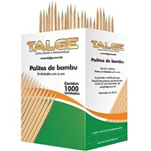 Palito de Dente Bambu CX 1000 UN Talge