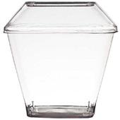 Kit Pote com Tampa Cristal 180ml PT 10 UN Strawplast