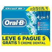 Creme Dental 4 em 1 70g Cada PT 6 UN Oral-B