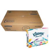 Lenço de Papel Folha Dupla 12,7x21,2cm CX 2500 FL Kleenex