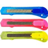 Estilete Largo Plástico 18mm Sortidos 1 UN Grampline