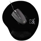 Kit Solution Mouse e Mousepad com Fio Preto 1 CJ Maxprint