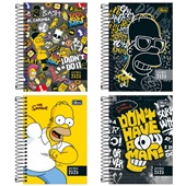 Agenda 2020 Simpsons Espiral 130x188mm Capas Sortidas 176 FL Tilibra