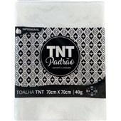 Toalha de Mesa TNT Padrão Branco 70x70cm PT 5 UN Grampline