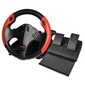 Volante Gamer Multiplataforma com Marcha e Pedal Preto e Vermelho JS087 Multilaser