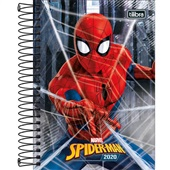 Agenda 2020 Spider Man Espiral A 130x188mm Sortidas 176 FL Tilibra