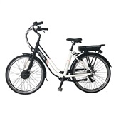 Bicicleta Elétrica Barcelona Aro 26 250W Preto e Branco BI183 1 UN Atrio