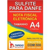 Sulfite para Danfe com Serrilha A4 75g 500 Folhas 1 UN Tamoio