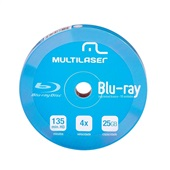 Dvd-R Shrink Blue Ray Pino 10 UN Multilaser