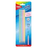 Lápis Preto HB N.2 Tons Pasteis Triangular 4 UN Tris