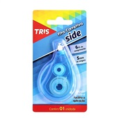 Corretivo em Fita Side Azul 5mm x 6m 1 UN Tris