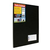 Pasta Catálogo Ofício com 50 Envelopes Visor 247x336mm Preto 1 UN Chies