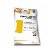 Envelope Plástico de Segurança 15x24cm PT 25 UN Embalagem Fácil