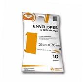 Envelope Plástico de Segurança 26x36cm PT 10 UN Embalagem Fácil