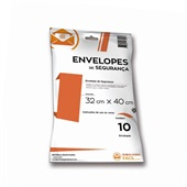 Envelope Plástico de Segurança 32x40cm PT 10 UN Embalagem Fácil