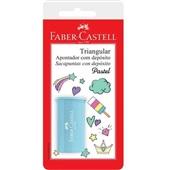 Apontador com Depósito Tons Pasteis Cores Sortidas 1 UN Faber Castell