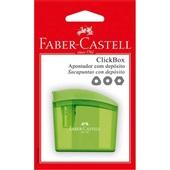 Apontador com Depósito ClickBox Neon Cores Sortidas 1 UN Faber Castell