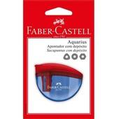 Apontador com Depósito Aquarius Cores Sortidas 1 UN Faber Castell