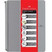 Caderno Universitário Grip Prata 80 FL 1 UN Faber Castell