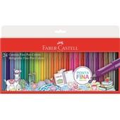 Caneta Hidrográfica Fine Pen 0,4mm 24 Cores Faber Castell