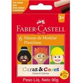 Massa de Modelar Caras e Cores 6 Cores Faber Castell