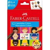 Caneta Hidrográfica Caras e Cores 12 Cores Faber Castell