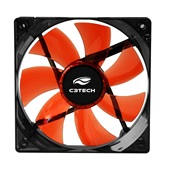 Cooler Fan Gamer Storm Led F7-L100RD Preto C3Tech