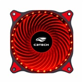 Cooler Fan Gamer Storm 30Led F7-L130RD Vermelho C3Tech