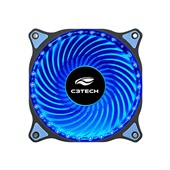Cooler Fan Gamer Storm 30Led F7-L130BL Preto C3Tech