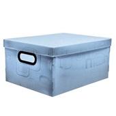 Caixa Organizadora Média 20,39L Azul 38x29x18,5cm 1 UN Dello