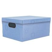 Caixa Organizadora Grande 26L Azul 42x31x20cm 1 UN Dello