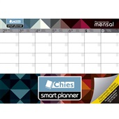 Planner Permanente Mensal Abstrato A4 24 FL Chies