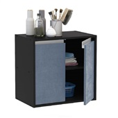 Balcão Una 2 Portas Preto e Azul Vel 53,5x56,5x35,5cm 1 UN Politorno