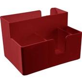 Porta Guardanapo e Sachês Vermelho Bold 1 UN Coza
