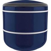 Marmita Lunch Box Dupla para Microondas Azul 1 UN Euro