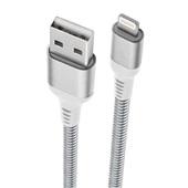 Cabo Lightning USB para iPhone iPad iPod 1m Aço Inoxidável 1 UN Geonav