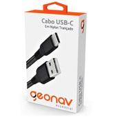 Cabo USB-C para USB 2.0 Essential 1m Nylon Preto 1 UN  Geonav