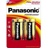 Pilha Alcalina Grande D Power 2 UN Panasonic