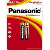 Pilha Alcalina Palito AAA Power 2 UN Panasonic