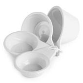 Kit Medidor de Plástico 4 Peças Branco Plasútil