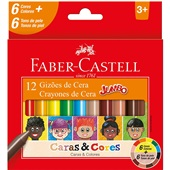 Gizão de Cera Caras e Cores 12 Cores Faber Castell