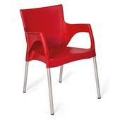 Cadeira Fixa Santarém Vermelho 1 UN Xplast