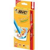 Lápis de Cor Aquarelável 12 Cores e 1 Pincel Bic