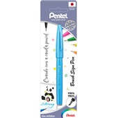 Caneta Brush Sign Pen Azul Claro 1 UN Pentel